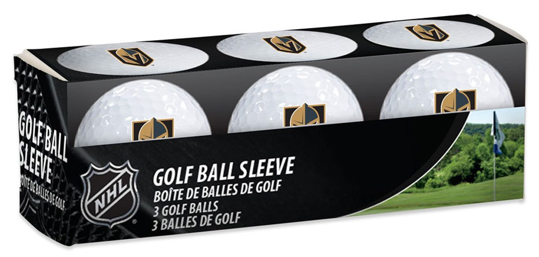 NHL Las Vegas Golden Knights Golf Ball Sleeve pack of 3 individual golf balls