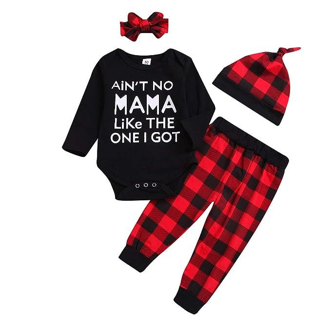 Amazon.com: 3Pcs Newborn Baby Boy Girl Clothes Long Sleeve Black ...
