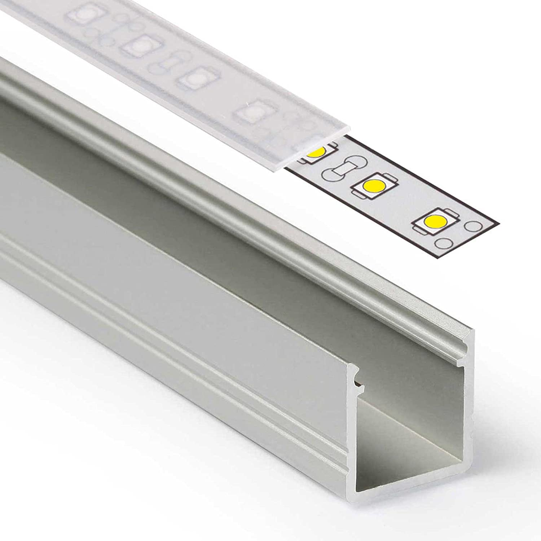 2m LED Aluprofil SMART (SM) Aluminium Profil-Leiste eloxiert für LED ...