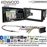 Kenwood DNX574S Double Din Radio Install Kit with GPS Navigation Apple CarPlay Android Auto Fits 2012-2013 Volkswagen Beetle, 2010-2013 Golf, 2006-2013 Jetta