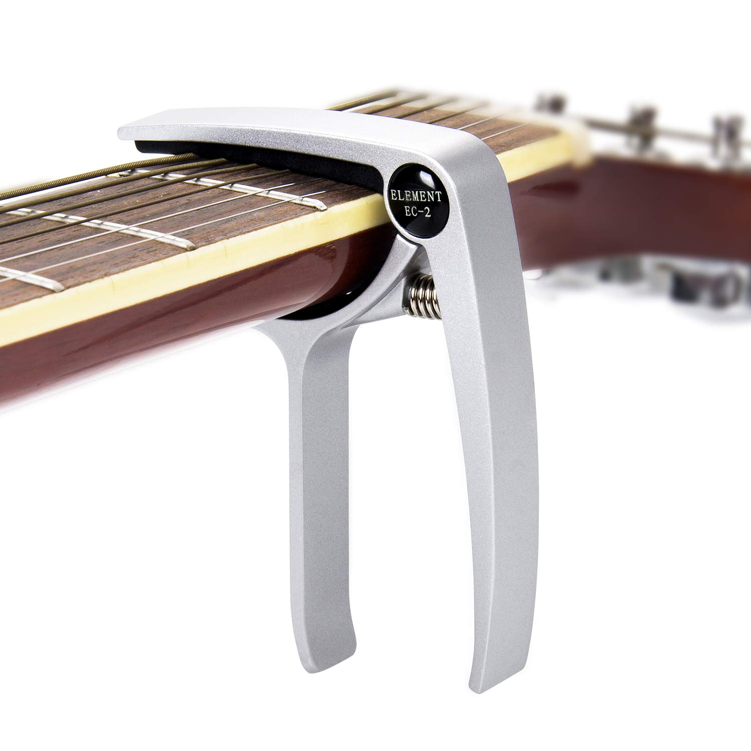 DigitalLife Clamp Guitar Capo for 6-String Acoustic, Electric, Bass Guitar and Ukulele (Zinc Alloy Material, Silver)