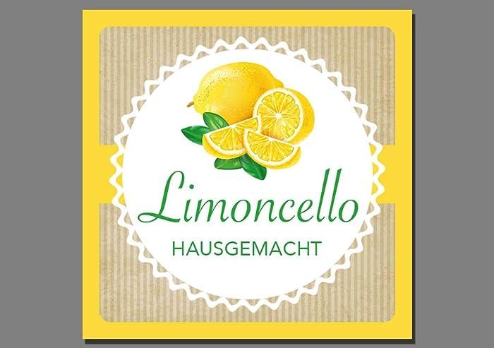 1x Aufkleber Limoncello - Etiketten Sticker selbstgemacht ...