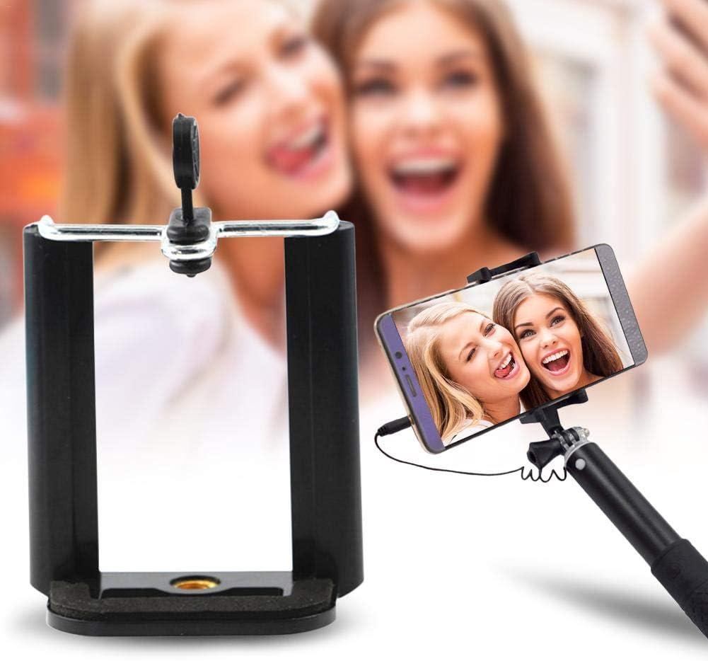 Windowcleaner Selfie Stick Clip para cámara de teléfono Inteligente, Soporte de trípode Remoto inalámbrico Desmontable Selfie Stick sin Embalaje Negro Standard