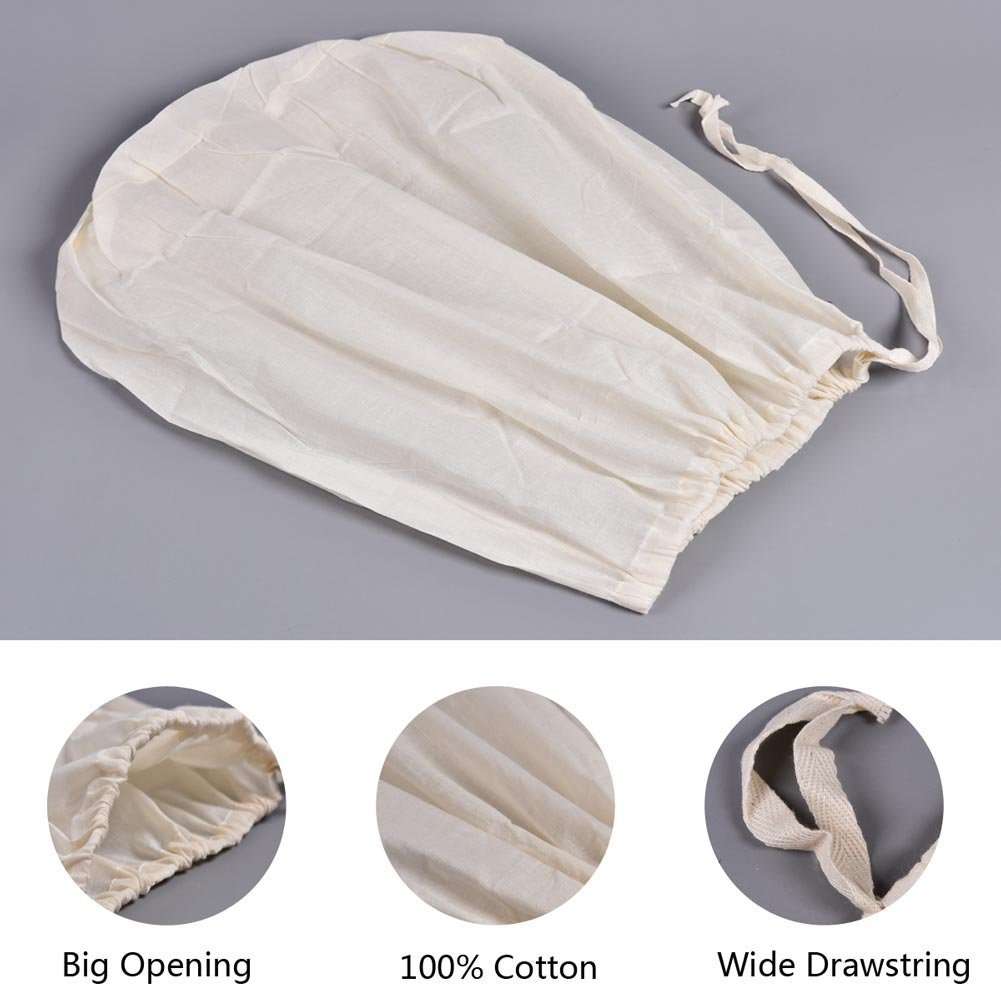 CONIE 16''x 20'' Large Straining Bag Fits for 40 to 50 Qt Brew Pot Kettles for Home Brewing Beer Wine Nut Milk