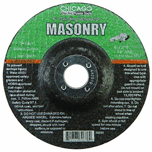 4 in. 24 Grit Masonry Grinding Wheel