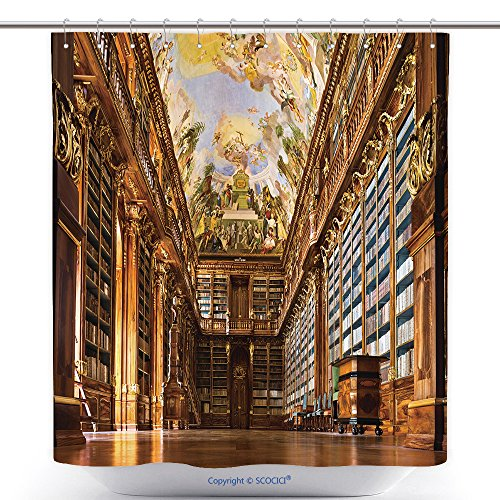 Victorian Music Hall Costumes (Unique Shower Curtains Historical Library Of Strahov Monastery In Prague Philosophical Hall 157354382 Polyester Bathroom Shower Curtain Set With Hooks)