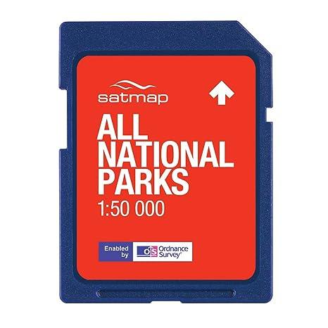 Satmap UK-CTY-25-SD-073 - Tarjeta con mapas de Parques Nacionales de Gran Bretaña, para GPS (Escala 1:50000): Amazon.es: Deportes y aire libre