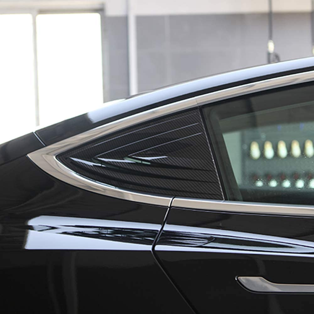 ETIAL Window Cover Protector Anti-Theft Rear Quarter Panel Glass Window Shutters for Tesla Model 3 Silver
