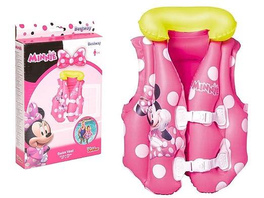 Bestway 91070 - Chaleco de natación, diseño de Minnie Mouse, color rosa