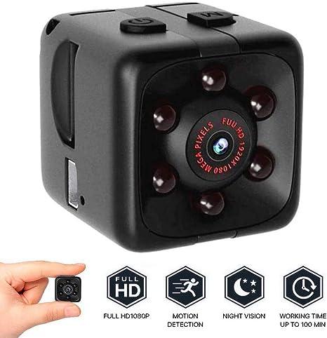 Hd 1080p Mini Kamera Mit Bewegungserkennung Und Infrarot Nachtsicht Versteckte Kamera Integrierter Akku Loop Aufnahmefunktion Microsd Kartenslot Überwachungskamera Spycamera Schwarz Musikinstrumente