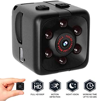 Opinión sobre Mini Camara Espia Oculta Videocámara,1080P HD Cámara Vigilancia Portátil Secreta Compacta con Detector de Movimiento IR Visión Nocturna, Camaras de Seguridad Pequeña Interior/Exterior (Negro)