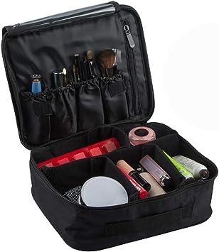 Estuche de Maquillaje de Viaje, SourceTon Professional Cosmetic Makeup Bag Organizer Cajas de Maquillaje con Bolsa de cosméticos espaciada: Amazon.es: Equipaje