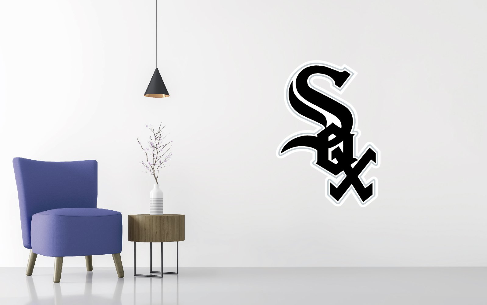 Baseball Team Logo - Wall Decal Removable & Reusable For Home Bedroom (Wide 30'' x 42'' Height) by Decals & Tees (Image #1)