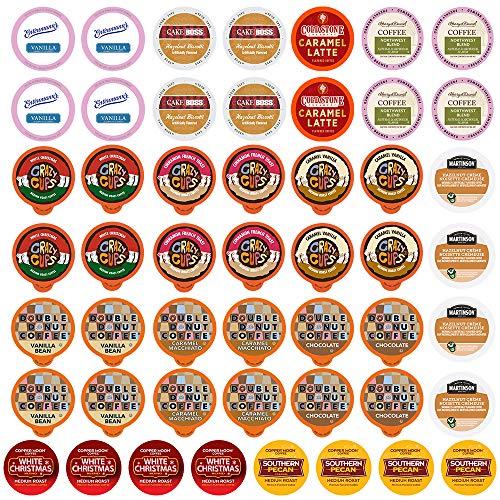 Flavored Single Serve Cups For Keurig K cup Brewers, Variety Pack Sampler (Flavored Lovers, 50)