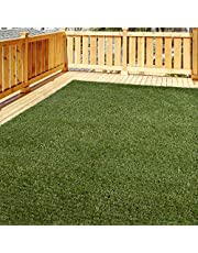 iCustomRug Thick Turf Rugs and Runners | Artificial Grass Available in 48 Different Sizes with Binding Tape Finished Edges