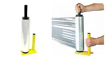 Rollo de film para envolver y dispensador, distintos colores y tamaños, color STRETCH WRAP