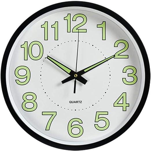 LINWX 12 Pulgadas Luna Luminoso Relojes de Pared silenciosos ...