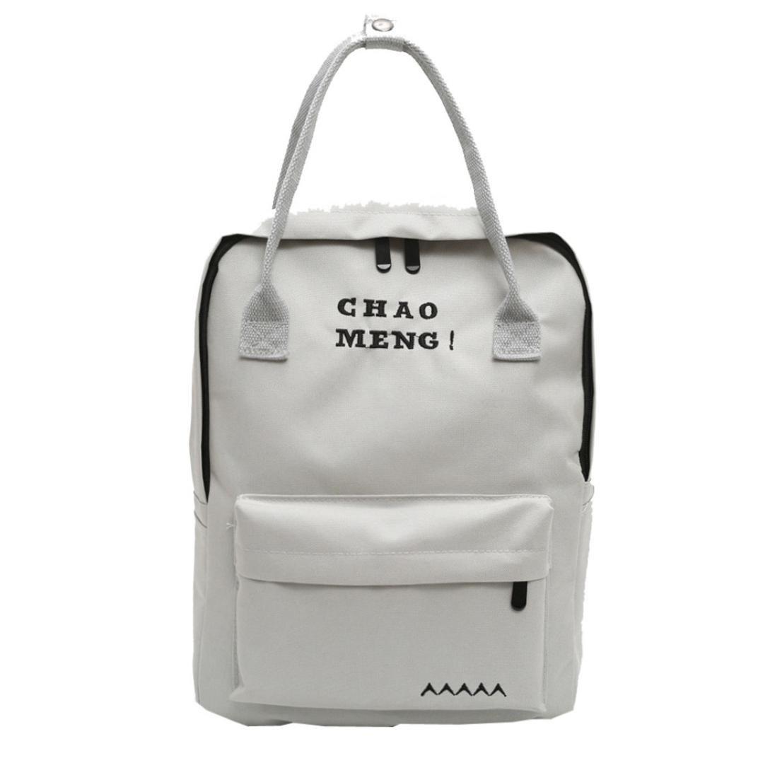 School Book Bags for Girls,Jchen(TM) Clearance Sale! Fashion Student Child Girls Oxford Cloth Letter Shoulder Bag School Bag Satchel Tote Backpack (Gray)
