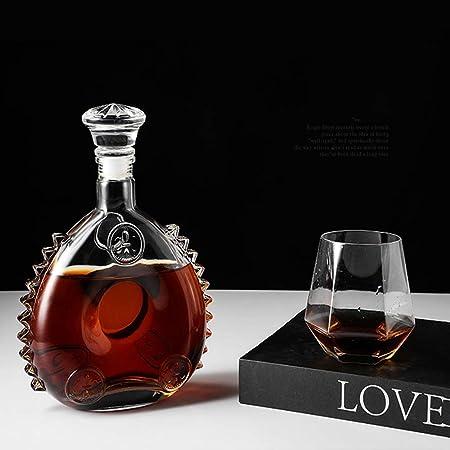 Sooiy Luis XIII Botella de Vino vacía, 1920 Estilo coñac o Whisky, Decantador, Sellado Botella de Vino del Vidrio con Tapa, Escultura de 750 ml de Hielo decantador