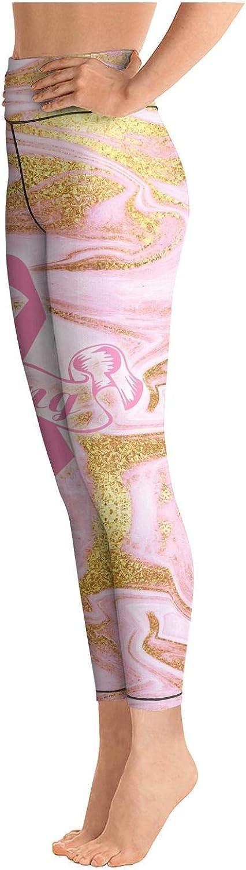 Womens high Waisted Leggins Marble Breast Cancer Awareness Pink Ribbon Sign Fitness Yoga Pants Elastic Leggings for Women