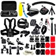 Soft Digits 50 in 1 Action Camera Accessories Kit for GoPro Hero 5 4 3+ 3 2 1 with Carrying Case/Chest Strap/Octopus Tripod