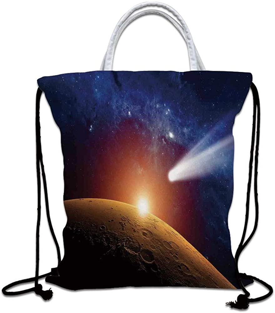 Drawstring Backpack Space Comet Universe Rucksack