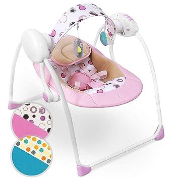 Schaukelwippe Babyschaukel Wippe mit Spielbogen und Musikfunktion Designwahl mit 5-Punkt-Sicherheitsgurt Babywippe zusammenklappbar