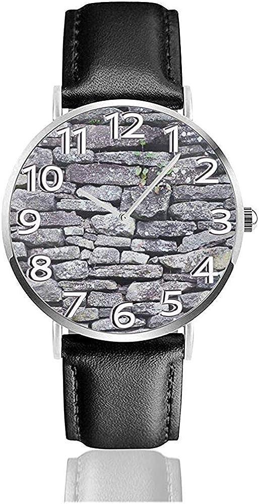 Relojes De Pulsera Reloj De Cuarzo Piedra Mármol Cuero Reloj De Pulsera Unisex Reloj De Cuarzo