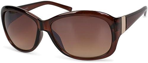 styleBREAKER Sonnenbrille in Schmetterlingsform mit Verzierung aus Metall am Bügel, Verlaufsglas, Da...