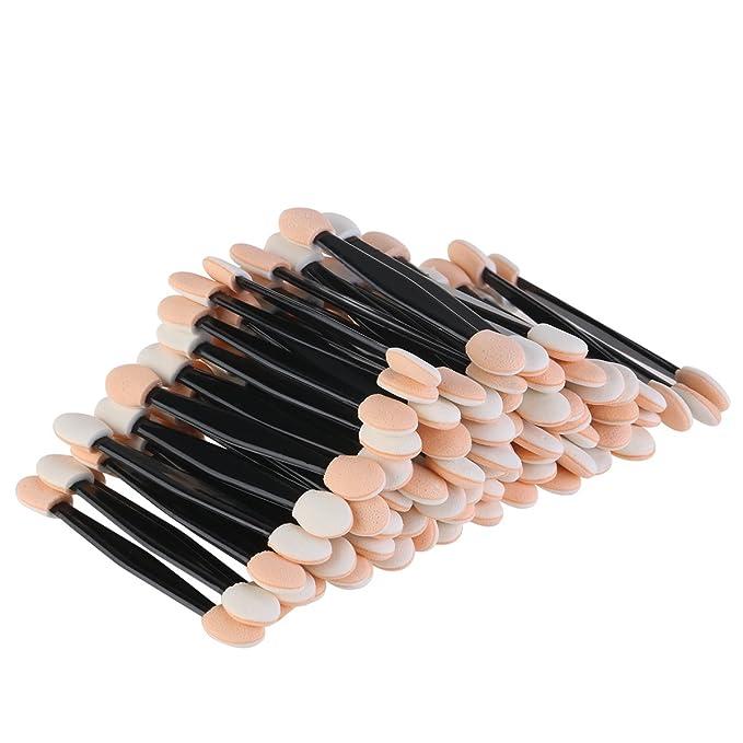 NUOLUX Eyeshadow Applicators,Disposable Eyeshadow Brush Makeup Applicator,100 Pack