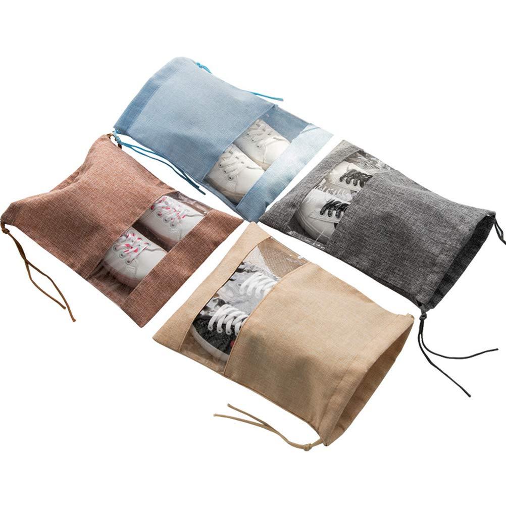 43cde8387688 Amazon.com: Yardwe Burlap Drawstring Bag Clothes Shoes Travel ...
