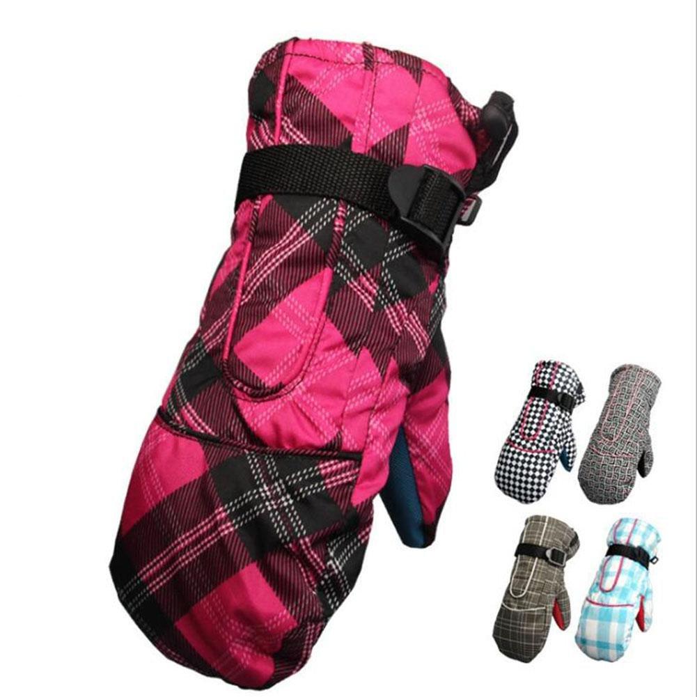 lxr Waterproof Winter Ski Thicken Women Gloves Snowboarding Cycling Motorcycle Thermal Warm Mittens Gloves , 2 lxr lzh