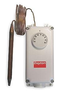 Dayton 2NNR6 Line Voltage T-Stat, -0 to 100 F, SPST