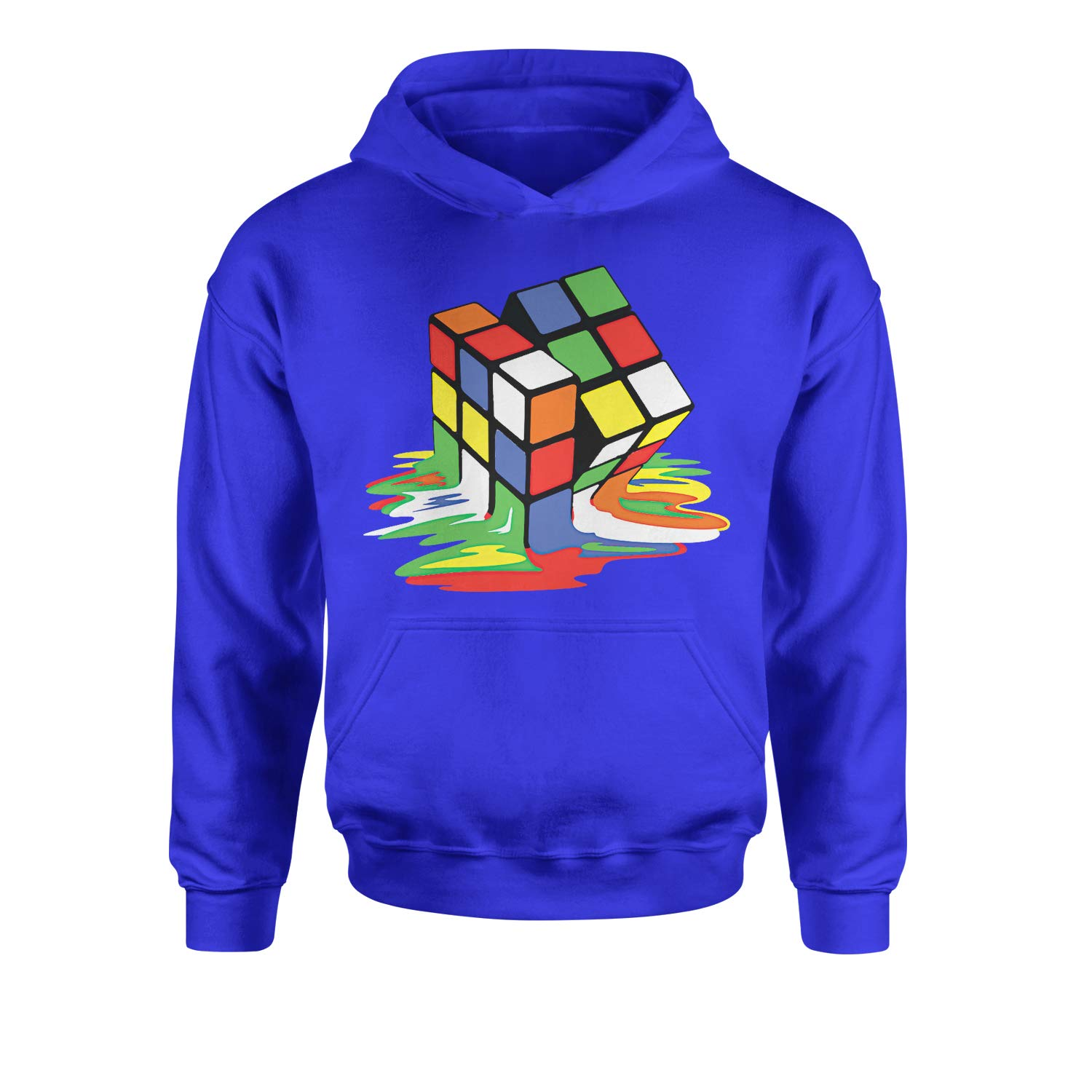 Expression Tees Melting Rubiks Cube Youth-Sized Hoodie