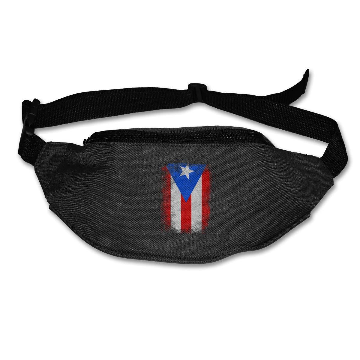 Puerto Rico Flag Sport Waist Bag Fanny Pack Adjustable For Hike