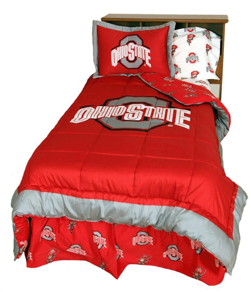 Amazon.com : Ohio State University Buckeyes Bedding Comforter U0026 Sham Set :  Sports Fan Bed Comforters : Home U0026 Kitchen