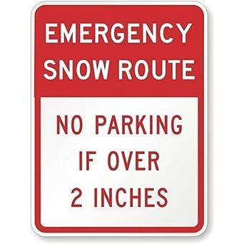Amazon.com: Señal de emergencia de la ruta de la nieve sin ...