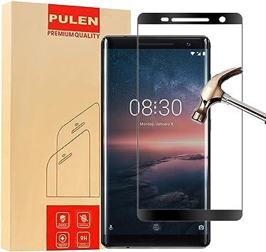 PULEN Nokia 8 Sirocco Protector de Pantalla, Vidrio Cristal ...