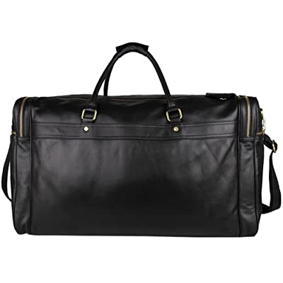 durable modeling Berchirly Mens Leather Duffel Large Messenger Laptop Bag Black