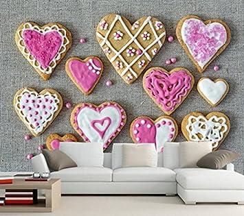 Malilove 3D Wallpaper, Cookies Herzen Essen Hintergrundbilder ...