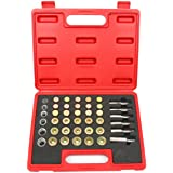 WINMAX TOOLS AUTOMOTIVE 114pc Oil Pan Drain Sump Plug Key Thread Repair Tool Kit Set Drain Plug