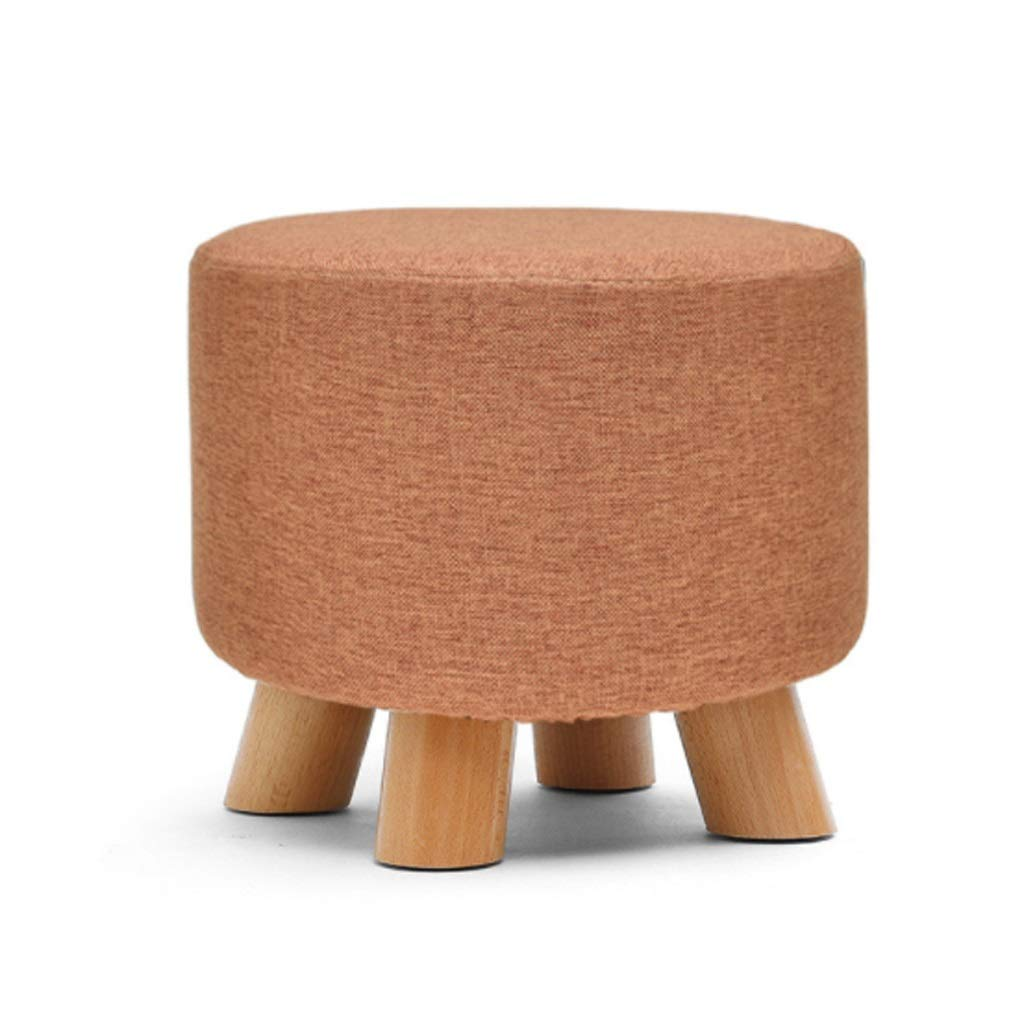 T-Day Bar Stool Footstool Creative Stool Solid Wood Dining Stool Square Stool Cloth Art Dressing Stool Fashion Makeup Stool Bench Home Stool 6 Colors (Color : E)