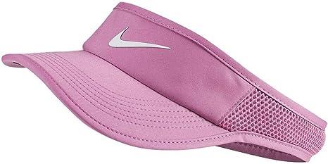 Nike Womens NikeCourt Aerobill Tennis Visor Gorro, Mujer, Pink ...