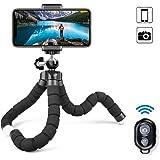 MAEXUS Camera Flexible Tripod, Phone Tripod with Bluetooth Remote and Universal Clip, 360° Adjustable Mini Travel Tripod Port
