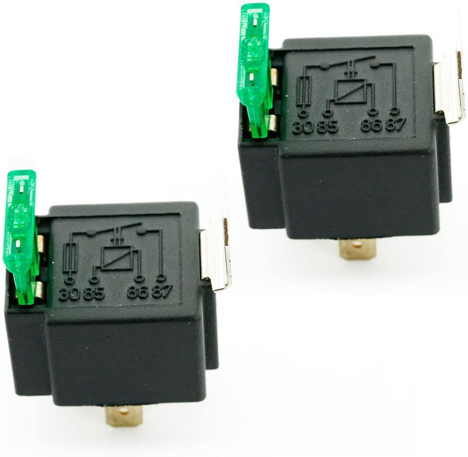 12V Automotive On//Off Fused Relay 30A 4-Pin with Holder Socket