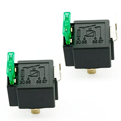 Fused Relay On/Off 12V 30A 4-Pin Fuse Relay Spotlamps for Car Van Truck  Boat, Pack of 2