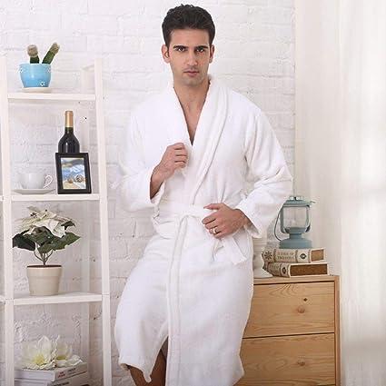 KTUCN Albornoz de Invierno para Hombre, Pijamas de algodón ...
