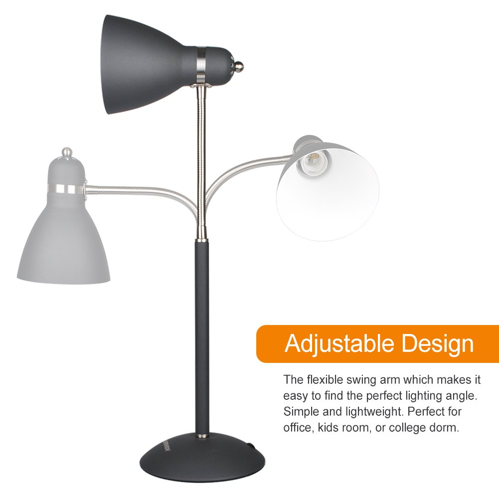 office table lights. LEPOWER Metal Desk Lamp, Adjustable Goose Neck Table Eye-caring Study Lamps For Bedroom And Office ( Black) Lights R
