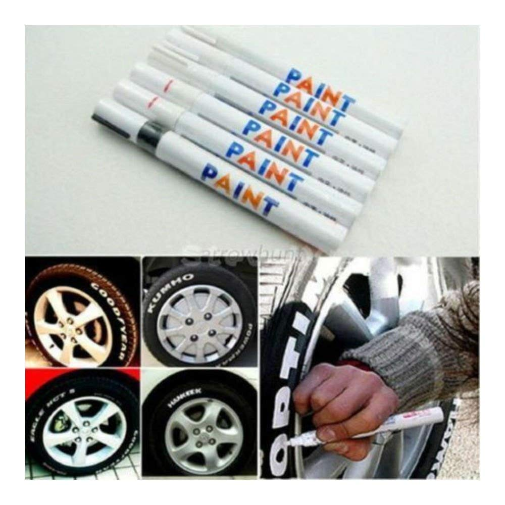 Universal Waterproof Paint Marker Pen Car Tyre Tire Tread Rubber Metal Red Color