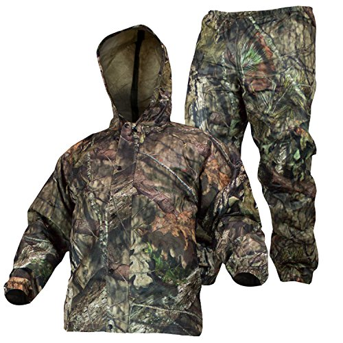 COMPASS 360 SportTek Waterproof Breathable Camo Suit (Medium, Mossy Oak Country)